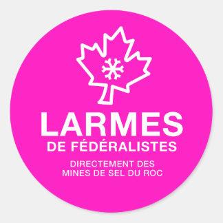 Etiqueta x20 Lágrimas de Federalistas Quebeque