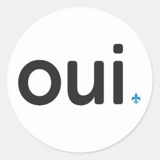 Etiqueta x20 Sim referendo Quebeque