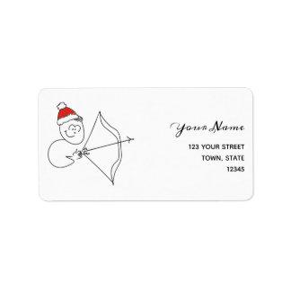 Etiqueta Zodíaco do papai noel do Natal do sinal da estrela