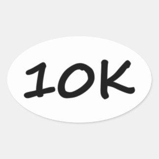 etiquetas 10k running ovais (4) por a folha