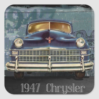 Etiquetas 1947 lustrosas do carro de Chrysler do
