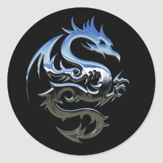 Etiquetas afortunadas de prata do preto do dragão