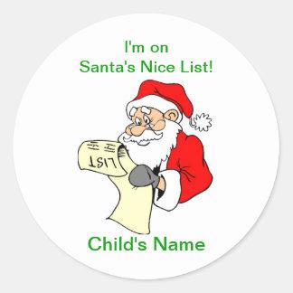 Etiquetas agradáveis customizáveis da lista de adesivo