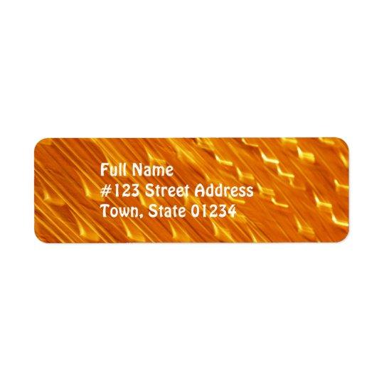 Etiquetas alaranjadas do enviamento da lava etiqueta endereço de retorno
