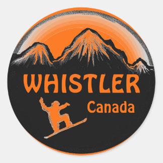 Etiquetas alaranjadas do snowboarder de Canadá do Adesivo