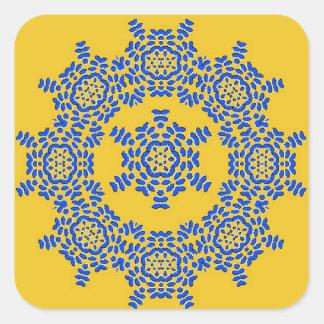 Etiquetas amarelas & azuis retros do azulejo da