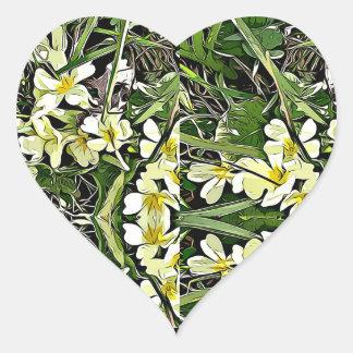 Etiquetas amarelas da flor do primavera da prímula