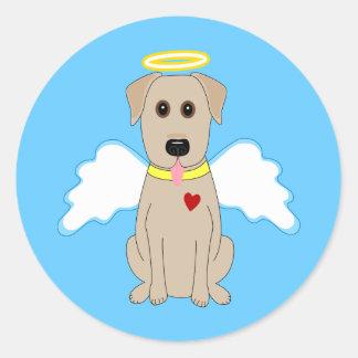 Etiquetas amarelas do anjo de labrador retriever