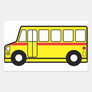 Etiquetas amarelas do auto escolar