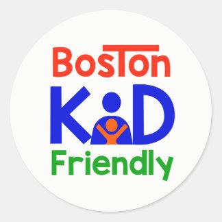 Etiquetas amigáveis do miúdo de Boston