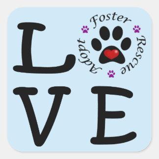 Etiquetas animais do amor do salvamento