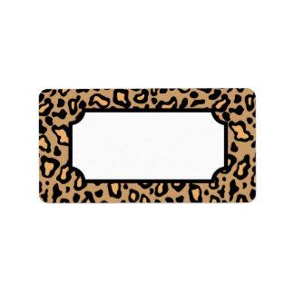 Etiquetas animais do impressão do leopardo