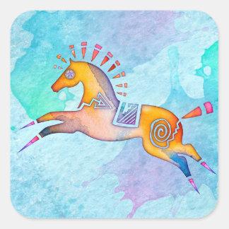 Etiquetas animais do Totem do pônei do espírito