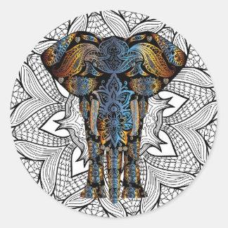 Etiquetas artísticas do elefante Mystical