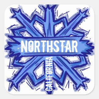 Etiquetas artísticas do floco de neve de Northstar Adesivo Quadrado