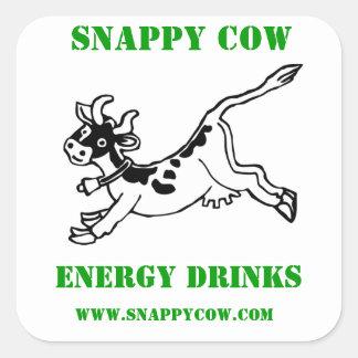 Etiquetas ásperos da vaca adesivos quadrados