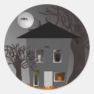 Etiquetas assustadores do Dia das Bruxas da casa