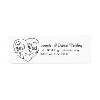 Etiquetas autoadesivas Wedding da etiqueta Etiqueta Endereço De Retorno