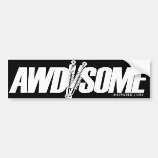 etiquetas awdsome brancas/logotipo preto 3 adesivo para carro