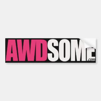 etiquetas awdsome cor-de-rosa/logotipo preto 1 adesivo para carro