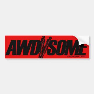 etiquetas awdsome vermelhas/logotipo preto 3 adesivo