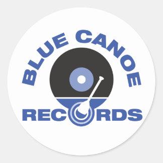 Etiquetas azuis da canoa adesivo