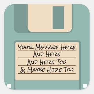 Etiquetas azuis da disquete da velha escola do