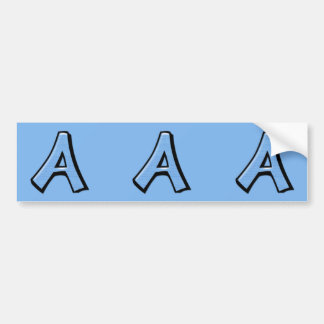 Etiquetas azuis parvas do entalhe da letra A Adesivos