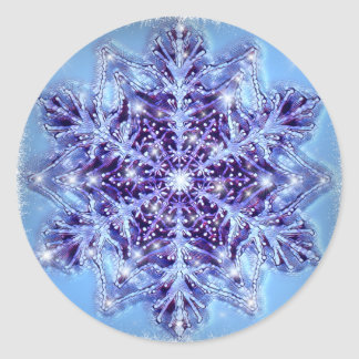 Etiquetas azuis pintadas original do floco de neve