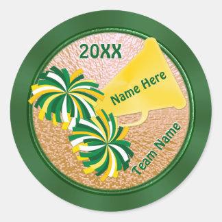 Etiquetas barato personalizadas do elogio do verde