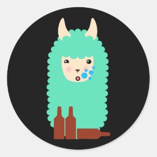 Etiquetas bêbedas de Emoji do lama