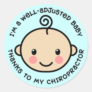 Etiquetas Bem-Ajustadas da quiroterapia do bebê