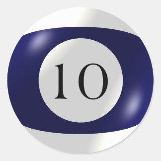 Etiquetas - bilhar - bola 10 adesivo