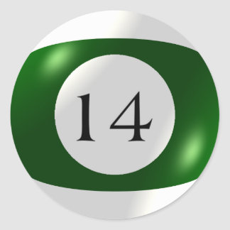 Etiquetas - bilhar - bola 14 adesivo
