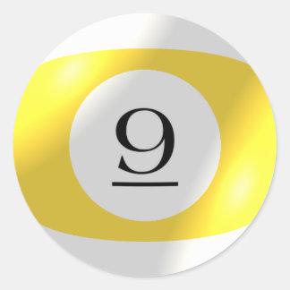 Etiquetas - bilhar - bola 9 adesivo
