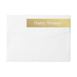 Etiquetas Boas festas rotulação branca Mão-Impressa do ouro