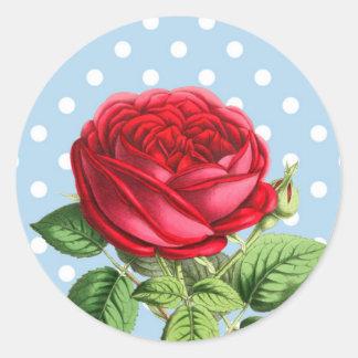 Etiquetas bonitas da rosa vermelha adesivo
