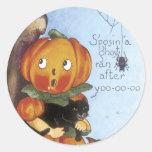 Etiquetas bonitos da abóbora do Dia das Bruxas - d Adesivo