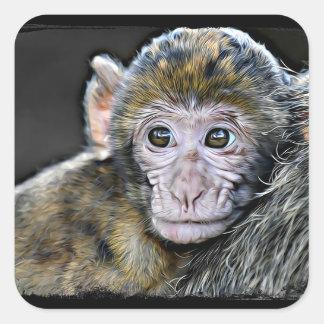 Etiquetas bonitos da cara do macaco do bebê