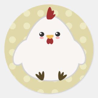 Etiquetas bonitos da galinha