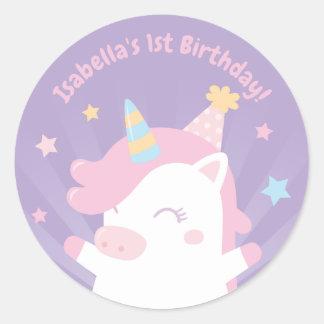 Etiquetas bonitos do aniversário das meninas do