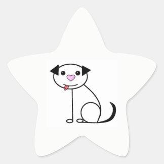 Etiquetas bonitos do cão dos desenhos animados