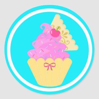 Etiquetas bonitos do cupcake! adesivo