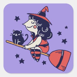Etiquetas bonitos do Dia das Bruxas da bruxa