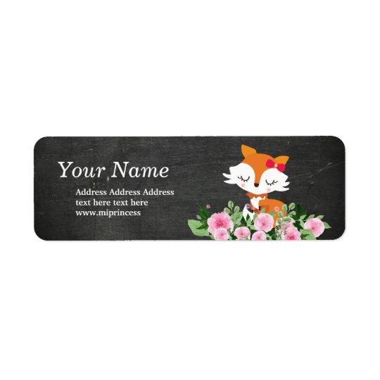etiquetas bonitos do endereço do remetente da etiqueta endereço de retorno