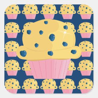Etiquetas bonitos do muffin de blueberry