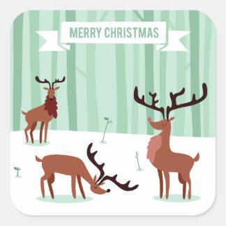 Etiquetas bonitos do Natal das renas
