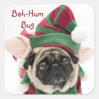 Etiquetas bonitos do Pug do feriado