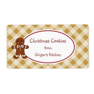 Etiquetas bonitos do Tag do presente dos biscoitos