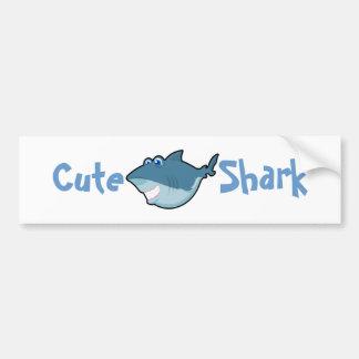 Etiquetas bonitos do tubarão adesivo para carro
